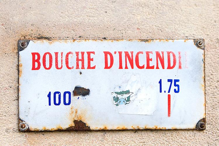 Close-up of Parisian street sign, Paris, France