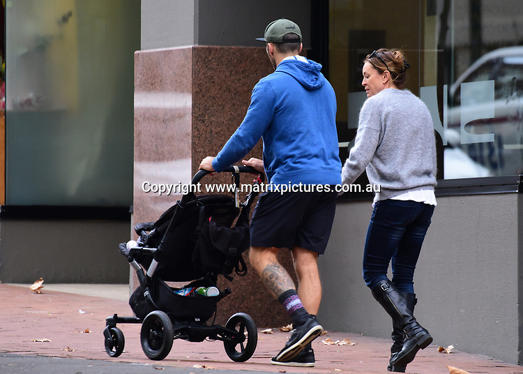 15 May 2017 SYDNEY AUSTRALIA<br /> WWW.MATRIXPICTURES.COM.AU<br /> <br /> EXCLUSIVE PICTURES<br /> Michelle and Commando take the baby for Breakfast and supermarket shopping on 15 May 2017<br /> <br /> *No internet without clearance*.<br /> <br /> MUST CALL PRIOR TO USE <br /> <br /> +61 2 9211-1088. <br /> <br /> Matrix Media Group.Note: All editorial images subject to the following: For editorial use only. Additional clearance required for commercial, wireless, internet or promotional use.Images may not be altered or modified. Matrix Media Group makes no representations or warranties regarding names, trademarks or logos appearing in the images.