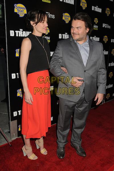 27 April 2015 - Hollywood, California - Tanya Haden, Jack Black. &quot;D Train&quot; Los Angeles Premiere held at Arclight Cinemas. <br /> CAP/ADM/BP<br /> &copy;BP/ADM/Capital Pictures
