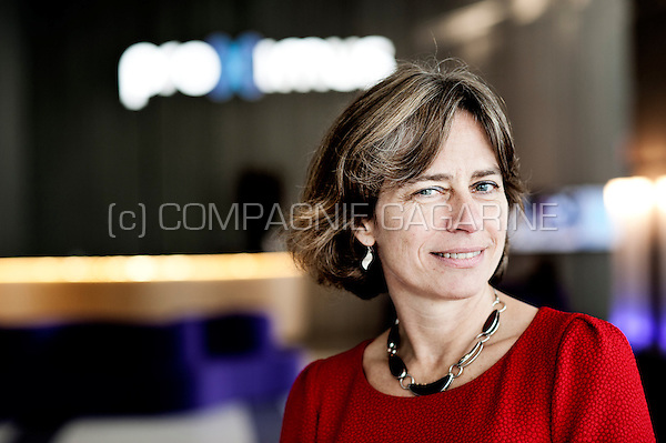 Dominique Leroy, CEO of the Belgian telecommunications company Belgacom / Proximus (Belgium, 29/10/2015)
