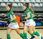 Almere - Zaalhockey Kampong-Push . vreugde bij Push.  Kim Janise (Push)  COPYRIGHT KOEN SUYK