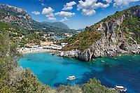 Paleokastritsa bay at Corfu, Greece