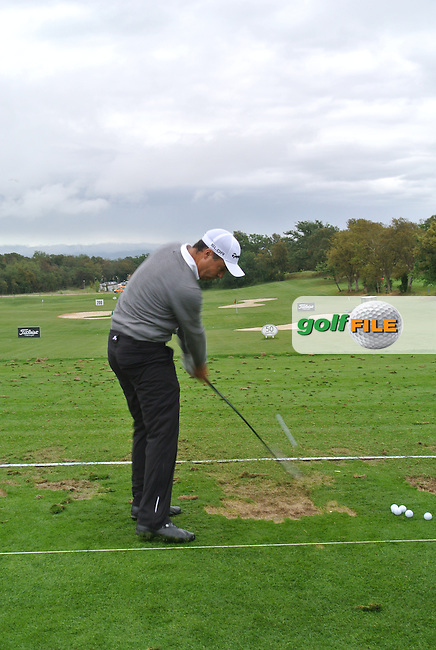 Simon Khan (ENG) during Practice Day 1of The Open De Espana at The PGA Catalunya Resort on Tuesday 13th May 2014.<br /> Picture:  Thos Caffrey / www.golffile.ie