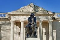 The Thinker sculpture at The Rodin Museum, Philadelphia, Pennsylvania, USA