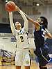 Taylor Goode #2 of St. Anthony's, left, and Kadajah Bailey #30 of St. Mary's battle for control of a rebound during the NSCHSAA varsity girls basketball final at Hofstra University on Tuesday, Mar. 1, 2016. St. Anthony's won by a score of 79-51.