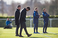 A frustrated Liverpool U18 Manager Steven Gerrard during the U18 Premier League Cup match between Tottenham Hotspur and Liverpool at Tottenham Training Ground, Hotspur Way, London, England on 10 January 2018. Photo by Andy Rowland / PRiME Media Images