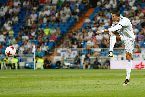 23rd August 2017, Madrid, Spain;  Cristiano Ronaldo dos Santos (7) Real Madrid, 37th SANTIAGO BERNABEU TROPHY, between Real Madrid and Fiorentina at the Santiago Bernabeu stadium, Madrid