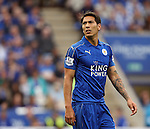 Leicester's Leonardo Ulloa in action during the Barclays Premier League match at the King Power Stadium.  Photo credit should read: David Klein/Sportimage