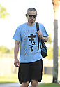 Ichiro Suzuki (Marlins), FEBRUARY 18, 2017 - MLB : Miami Marlins outfielder Ichiro Suzuki (51) arrives at the stadium prior to practice in Jupiter, Florida, United States. (Photo by AFLO)