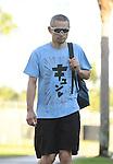 Ichiro Suzuki (Marlins), FEBRUARY 18, 2017 - MLB : Miami Marlins outfielder Ichiro Suzuki (51) arrives at the stadium prior to practice in Jupiter, Florida, United States. (Photo by AFLO)