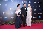 Paula Creamer (right) and her husband Derek, Olivia Lee Davies walk the Red Carpet event at the World Celebrity Pro-Am 2016 Mission Hills China Golf Tournament on 20 October 2016, in Haikou, China. Photo by Weixiang Lim / Power Sport Images