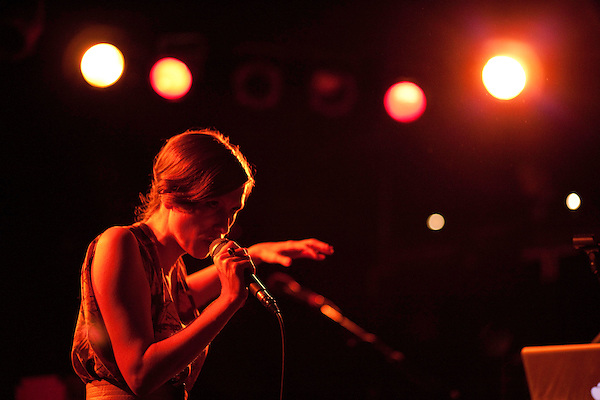 October 6, 2010. Carrboro, NC.. Cameron Mesirow, of Glasser, opened the show.. Gayngs, a band made up of members of Bon Iver, Megafaun, The Rosebuds, Solid Gold and Doomtree, played at the Cat's Cradle while on their US tour.