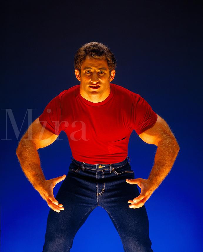 Musle man body builder.
