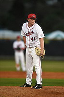 Ball State Cardinals pitcher Scott Baker (41) during a game against the Maine Black Bears on March 3, 2015 at North Charlotte Regional Park in Port Charlotte, Florida.  Ball State defeated Maine 8-7.  (Mike Janes/Four Seam Images)