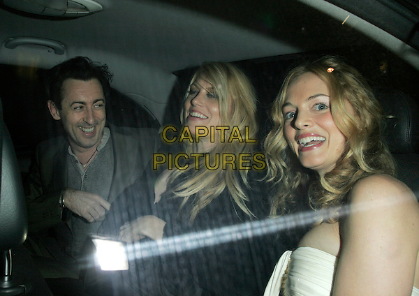 """ALAN CUMMING, MEREDITH OSTROM & HEATHER GRAHAM .UK Premiere of """"Elizabeth - The Golden Age"""" at the Odeon Leicester Square, London, England, October 23rd 2007..half length in car shot sitting funny.CAP/AH.©Adam Houghton/Capital Pictures."""