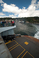 Departing on Ferry, Orcas Island, San Juan Islands, Washington, US