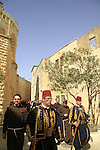 Israel, Jerusalem, the Franciscan Holy Thursday procession at Mount Zion