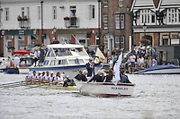 Henley, GREAT BRITAIN,  Grand Challenge Cup, Leander Club appeal after losing to,  Victoria Rowing Club and Kingston Rowing Club, 2008 Henley Royal Regatta  on Saturday, 05/07/2008,  Henley on Thames. ENGLAND. [Mandatory Credit:  Peter SPURRIER / Intersport Images] Rowing Courses, Henley Reach, Henley, ENGLAND . HRR