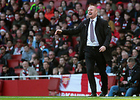 Burnley manager Sean Dyche cuts a frustrated figure<br /> <br /> Photographer David Shipman/CameraSport<br /> <br /> The Premier League - Arsenal v Burnley - Saturday 22nd December 2018 - The Emirates - London<br /> <br /> World Copyright © 2018 CameraSport. All rights reserved. 43 Linden Ave. Countesthorpe. Leicester. England. LE8 5PG - Tel: +44 (0) 116 277 4147 - admin@camerasport.com - www.camerasport.com