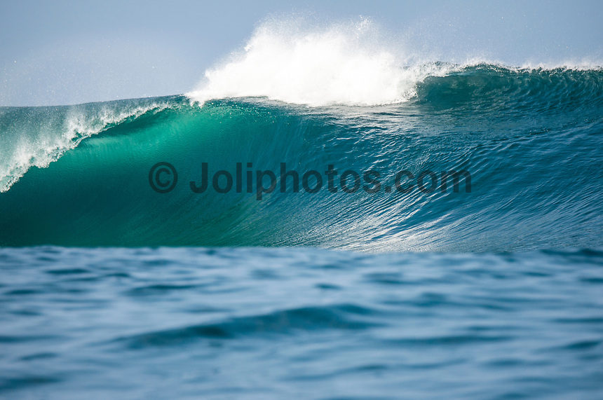 Namotu Island Resort, Nadi, Fiji (Friday, March 10 2017): The wind was light this morning,  coming out of the out of the NE.  There had been big electrical storms with lots of rain during the night with  the swell picking up to arto a solid 6' plus from the SW. Cloudbreak was the spot, with waves at Restaurants,  Lefts, Pools and Wilkes    Photo: joliphotos.com