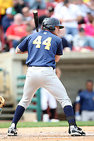 April 11 2010: Carlo Testa of the Burlington Bees. The Bees are the Low A affiliate of the Kansas City Royals. Photo by: Chris Proctor/Four Seam Images