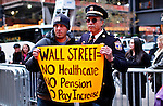 UNITED STATES, NEW YORK,  November 19, 2011..Retired Philadelphia police Captain Ray Lewis a Protester affiliated with the Occupy Wall Street movement takes part of a protest in New York November 19, 2011. VIEWpress /Kena Betancur..A well-known Washington lobbying firm with links to the financial industry has proposed an $850,000 plan to take on Occupy Wall Street and politicians who might express sympathy for the protests, according to a memo obtained by the MSNBC program.Local media report..