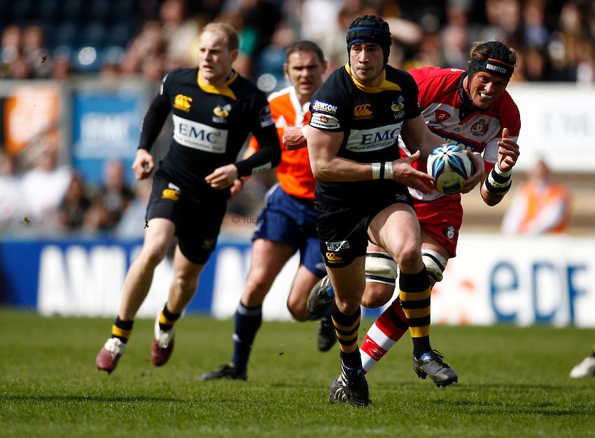 Photo: Richard Lane/Richard Lane Photography. London Wasps v Gloucester Rugby. Amlin Challenge Cup Quarter Final. 11/04/2010. Wasps' Danny Cipriani attacks.
