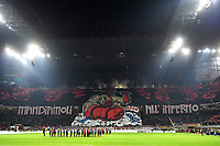 Milan supporters coreography prior to the Serie A 2018/2019 football match between AC Milan and FC Internazionale at stadio Giuseppe Meazza, Milano, March 17, 2019 <br /> Photo Andrea Staccioli / Insidefoto