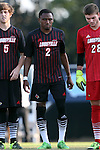 23 October 2015: Louisville's Michael DeGraffenreidt. The University of North Carolina Tar Heels hosted the University of Louisville Cardinals at Fetzer Field in Chapel Hill, NC in a 2015 NCAA Division I Men's Soccer match. UNC won the game 2-1.