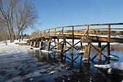 Minute Man National Historical Park...Old North Bridge during the winter months. Located in Concord, Massachusetts USA