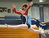 Erin Agoglia of South Side performs on the balance beam during the Nassau County varsity gymnastics individual championships and state qualifier at Long Beach High School on Tuesday, Feb. 13, 2018.