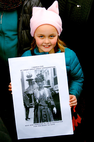 Great Great Great Granddaughter of a Suffrage Activist - On January 21, 2017<br />