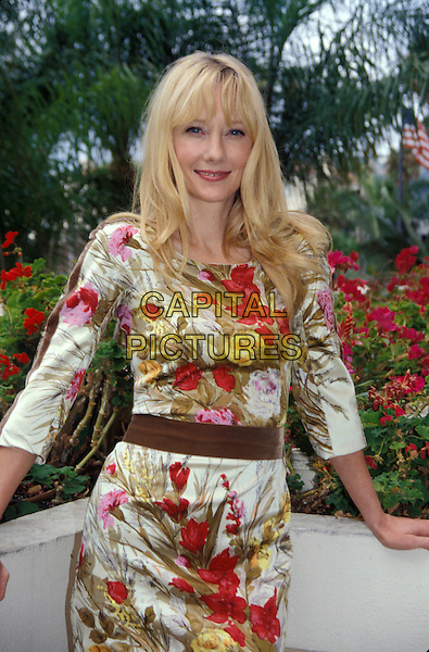 ANNE HECHE.May 2005.half length floral print dress.www.capitalpictures.com.sales@capitalpictures.com.© Capital Pictures.