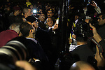 Palestinian President Mahmud Abbas lights candles between Fatah members in the west Bank city of Ramallah on 31 December 2009, on the eve of the party's 45th anniversary of its armed struggle. The secular Fatah movement led by Abbas vowed to step up its struggle against the Israeli occupation with demonstrations and diplomacy. Photo by Issam Rimawi