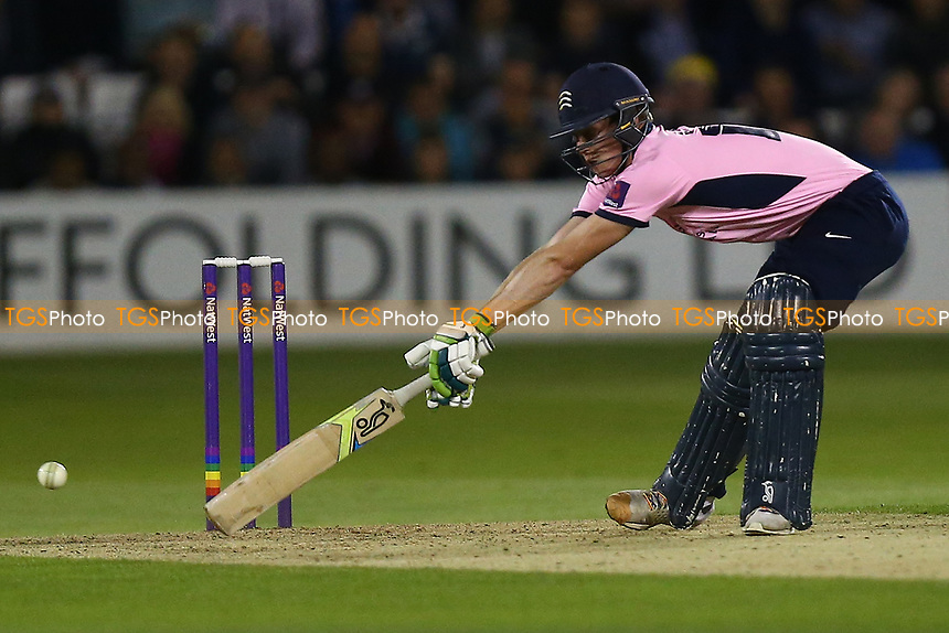 George Scott in batting action for Middlesex during Essex Eagles vs Middlesex, NatWest T20 Blast Cricket at The Cloudfm County Ground on 11th August 2017