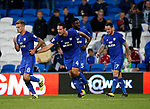 Sean Morrison of Cardiff City celebrates his goal during the Championship match at the Cardiff City Stadium, Cardiff. Picture date: August 15th 2017. Picture credit should read: Simon Bellis/Sportimage