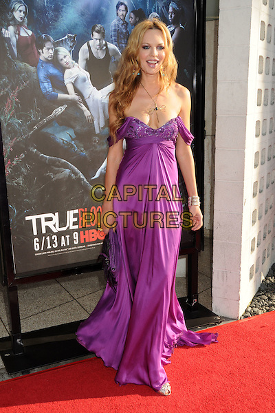 "NATASHA ALAM.HBO's ""True Blood"" Season 3 Premiere held at Arclight Cinemas Cinerama Dome, Hollywood, California, USA..June 8th, 2010.full length maxi dress purple pink  off the shoulder fuschia cleavage .CAP/ADM/BP.©Byron Purvis/AdMedia/Capital Pictures."