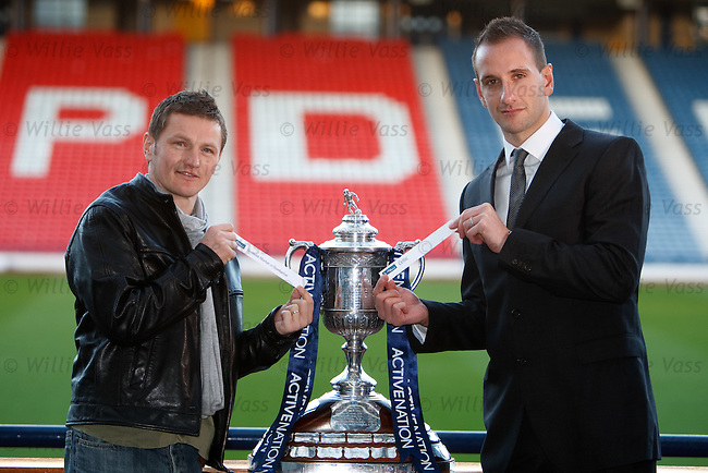 James Grady and John Kennedy at the cup draw