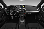 Stock photo of straight dashboard view of 2017 Audi S3 Premium-Plus 4 Door Sedan Dashboard