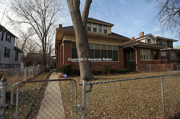 Michelle Obama's family's house is seen on South Euclid in the South Shore neighborhood of Chicago, Illinois on January 2, 2008.  Michelle Obama, wife of U.S. President Elect Barack Obama, was raised in a modest bungalow in the South Shore neighborhood on the South Side of Chicago.