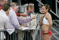 20 MAY 2007 - LOUGHBOROUGH, UK - Jessica Ennis (ENG) - 100m Hurdles - Loughborough International Athletics. (PHOTO (C) NIGEL FARROW)
