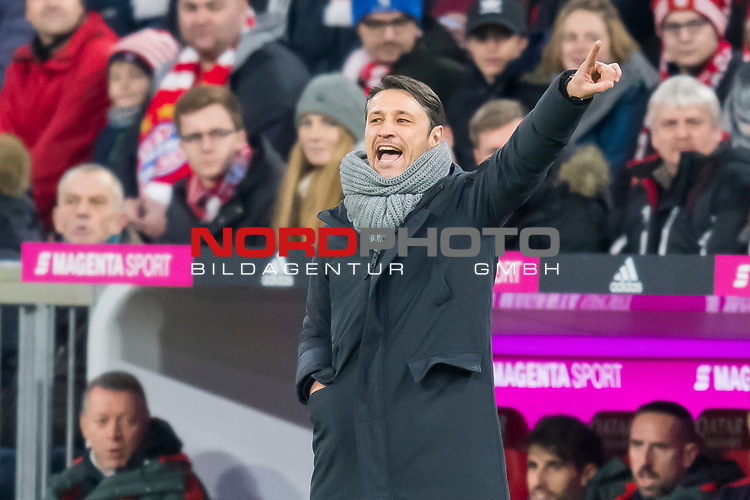09.02.2019, Allianz Arena, Muenchen, GER, 1.FBL,  FC Bayern Muenchen vs. FC Schalke 04, DFL regulations prohibit any use of photographs as image sequences and/or quasi-video, im Bild Niko Kovac (Cheftrainer FCB) <br /> <br />  Foto &copy; nordphoto / Straubmeier