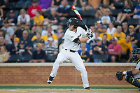 Jonathan Pryor (11) of the Wake Forest Demon Deacons at bat against the West Virginia Mountaineers in Game Four of the Winston-Salem Regional in the 2017 College World Series at David F. Couch Ballpark on June 3, 2017 in Winston-Salem, North Carolina.  The Demon Deacons walked-off the Mountaineers 4-3.  (Brian Westerholt/Four Seam Images)