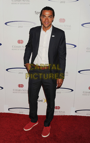 Jesse Williams.The 27th Anniversary of Sports Spectacular at the Hyatt Regency Century Plaza in Century City, California, USA..May 20th, 2012.full length shirt suit white blue.CAP/ROT/TM.©Tony Michaels/Roth Stock/Capital Pictures