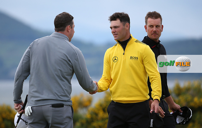 Ryan Evans (ENG) revelled in his pairing with Martin Kaymer (GER) and Henrik Stenson (SWE) during Round Two of the 2016 Aberdeen Asset Management Scottish Open, played at Castle Stuart Golf Club, Inverness, Scotland. 08/07/2016. Picture: David Lloyd | Golffile.<br /> <br /> All photos usage must carry mandatory copyright credit (&copy; Golffile | David Lloyd)