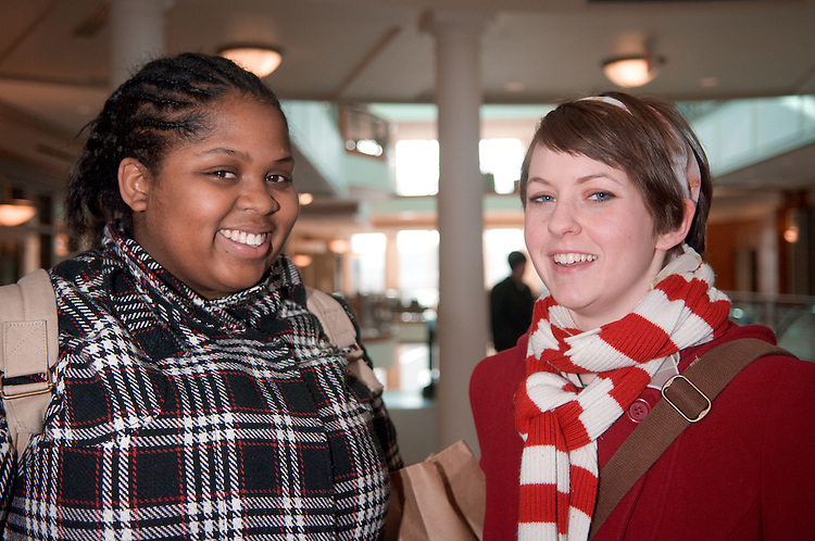 18536Campus  Winter..Alice M. Coutts and Anecia Johnson