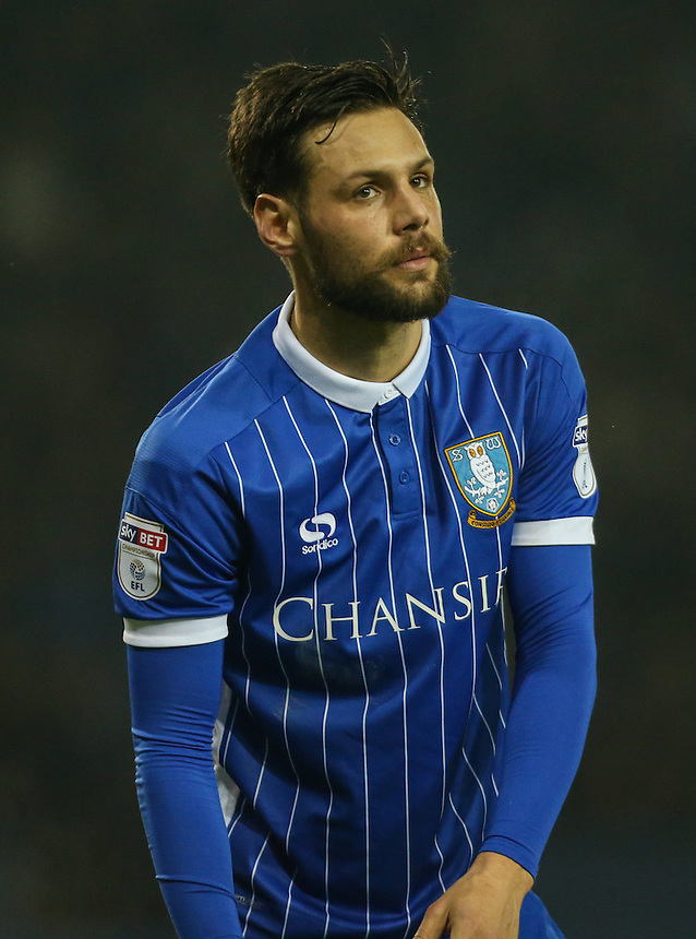 Sheffield Wednesday's Vincent Sasso in action<br /> <br /> Photographer Alex Dodd/CameraSport<br /> <br /> The EFL Sky Bet Championship - Sheffield Wednesday v Blackburn Rovers - Tuesday 14th February 2017 - Hillsborough - Sheffield<br /> <br /> World Copyright &copy; 2017 CameraSport. All rights reserved. 43 Linden Ave. Countesthorpe. Leicester. England. LE8 5PG - Tel: +44 (0) 116 277 4147 - admin@camerasport.com - www.camerasport.com