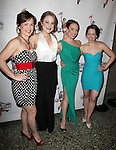 Caitlyn Caughell,Julie Foldesi, Kara Lindsay, Laurie Veldheer.attending the 'NEWSIES' Opening Night after Party at the Nederlander Theatre in New York on 3/29/2012