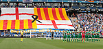 Silenci minut in terrorist attach memory before La Liga Game between RCD Espanyol agaisnt Leganes at RCDE Stadium