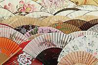 Colorful fans at market in Xian, China